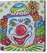 Colorful Clown Canvas Print