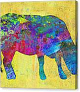 Colorful Cow Abstract Art Canvas Print