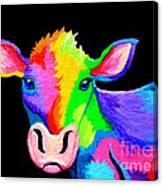 Colorful Cow-cow-a-bunga Canvas Print
