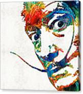 Colorful Dali Art By Sharon Cummings Canvas Print