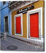 Colorful Doors Guanajuato Mexico Canvas Print