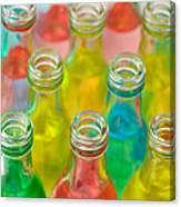 Colorful Drink Bottles Canvas Print