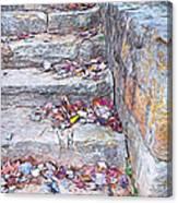 Colorful Fall Leaves Autumn Stone Steps Old Mentone Inn Alabama Canvas Print