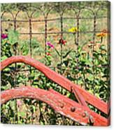 Colorful Fence Row Canvas Print