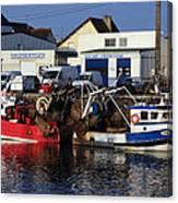 Colorful Fishing Boats Canvas Print
