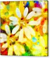 Colorful Floral Abstract - Digital Paint Canvas Print
