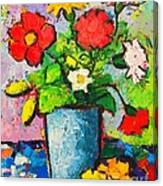 Colorful Flowers From My Garden Canvas Print