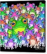Colorful Froggy Family Canvas Print