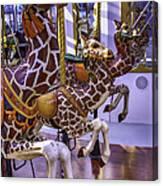 Colorful Giraffes Carrousel Canvas Print