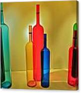 Colorful Glass Bottles Canvas Print