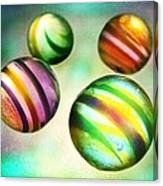 Colorful Glass Marbles Canvas Print