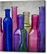 Colorful Group Of Bottles Canvas Print