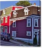 Colorful Homes In Saint John's-nl Canvas Print
