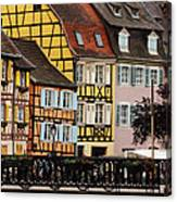 Colorful Homes Of La Petite Venise In Colmar France Canvas Print