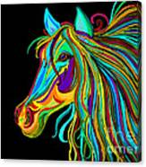 Colorful Horse Head 2 Canvas Print