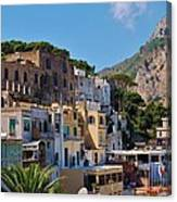 Colorful Houses In Capri Canvas Print