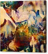 Colorful Iris Watercolor Canvas Print