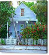 Colorful Key West Cottage Canvas Print