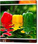 Colorful Kitchen Collage Canvas Print