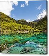 Colorful Lake At Jiuzhaigou China Canvas Print