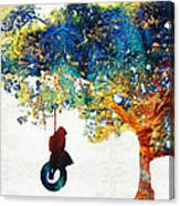Colorful Landscape Art - The Dreaming Tree - By Sharon Cummings Canvas Print