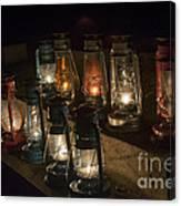 Colorful Lanterns At Night Canvas Print