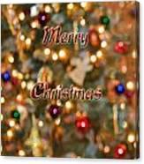 Colorful Lights Christmas Card Canvas Print