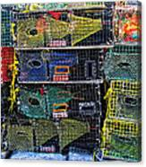 Colorful Lobster Traps Canvas Print