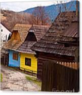 Colorful Log Homes Canvas Print