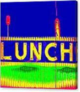 Colorful Lunch Canvas Print