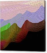 Colorful Mountain Range Canvas Print