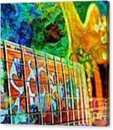Colorful Music Digital Guitar Art By Steven Langston Canvas Print