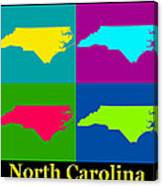 Colorful North Carolina Pop Art Map Canvas Print
