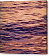 Colorful Ocean Water At Sunset Canvas Print