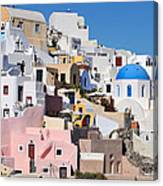 Colorful  Oia Canvas Print