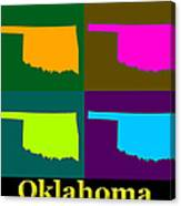 Colorful Oklahoma State Pop Art Map Canvas Print