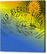 Colorful Old Bleach Linen Ad Canvas Print