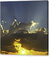 Colorful Orange Yellow Clouds At Sunset Panorama Fine Art Print Canvas Print