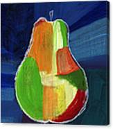 Colorful Pear- Abstract Painting Canvas Print