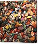 Colorful Polished Stones Canvas Print