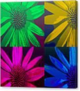 Colorful Pop Art Flowers Canvas Print