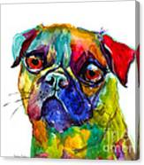 Colorful Pug Dog Painting  Canvas Print