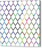 Colorful Quatrefoil Canvas Print