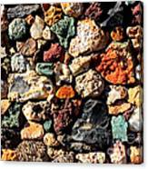 Colorful Rock Wall With Border Canvas Print