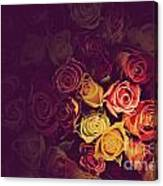 Colorful Roses Background Canvas Print