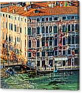 Colorful Rotten Palace In Venice Italy  Canvas Print