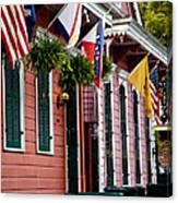 Colorful Row Houses Canvas Print