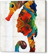 Colorful Seahorse Art By Sharon Cummings Canvas Print