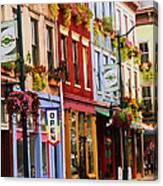 Colorful Shops Canvas Print
