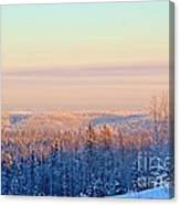 Colorful Snow Valley Canvas Print